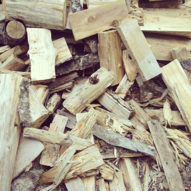 Wood chopped and ready for the stove