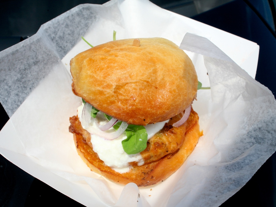 Hinquarter's Fried Green Tomato Sandwich!