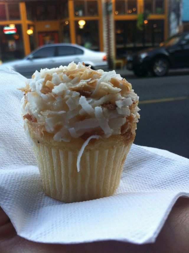 This Coconut Cupcake was gone in seconds!